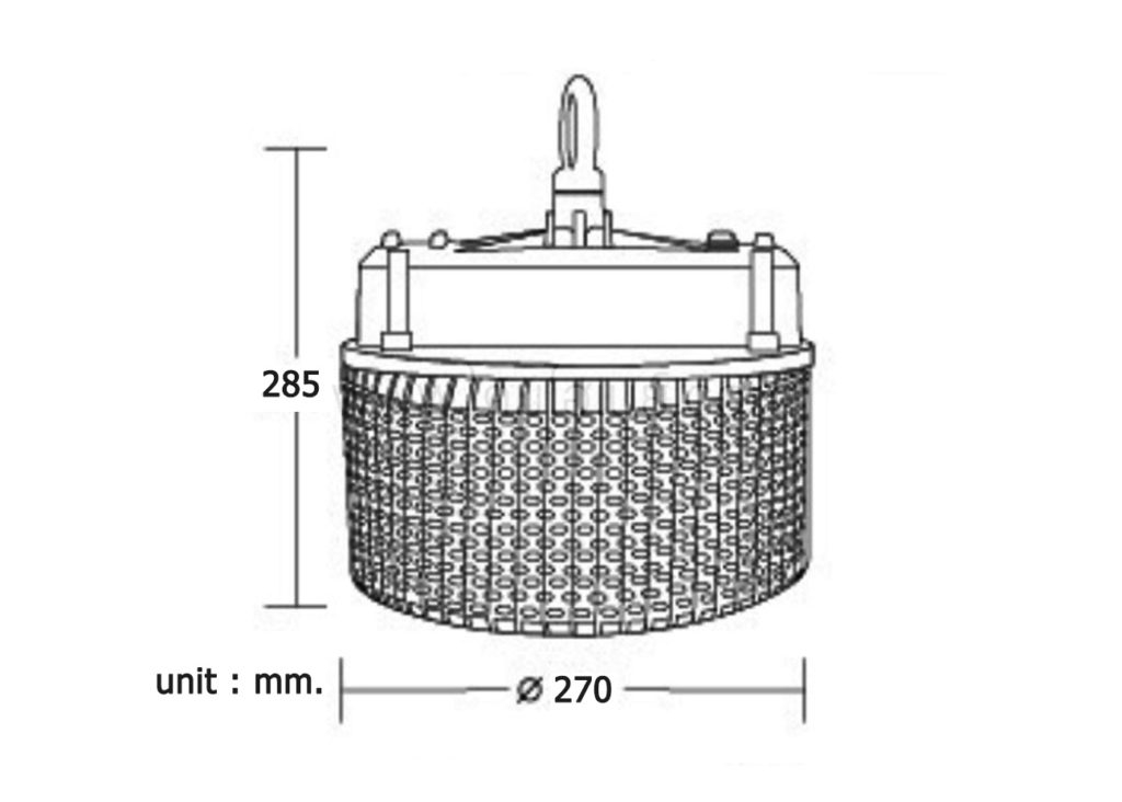 โคมไฮเบย์ LED (HBA) 150W (เดย์ไลท์) BEC