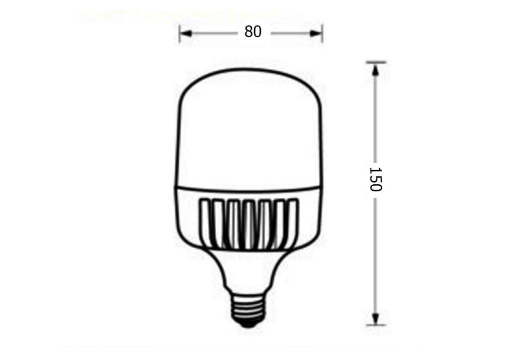 หลอดไฟไฮเบย์ led highwatt shop bulb 20w เดย์ไลท์ eve
