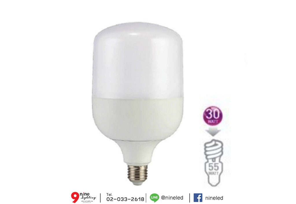 หลอดไฟไฮเบย์ led highwatt shop bulb 30w เดย์ไลท์ eve