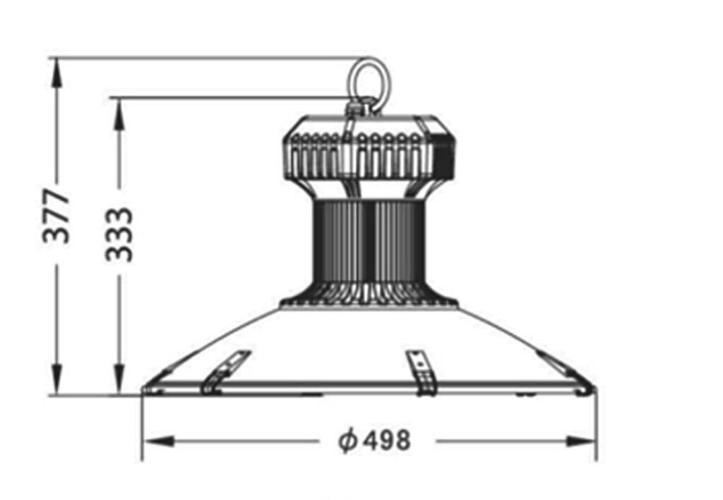 โคมไฮเบย์ LED (SDD) 150W (เดย์ไลท์) EVE