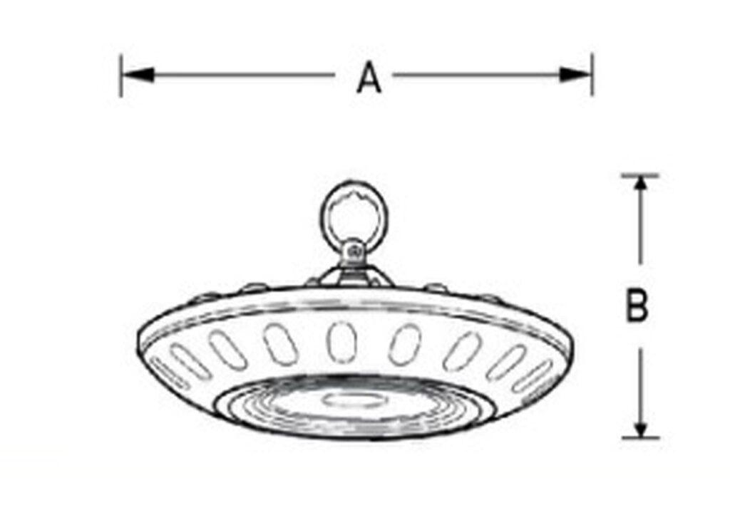 โคมไฮเบย์ LED 150W EVE เดย์ไลท์ (SMD UFO)