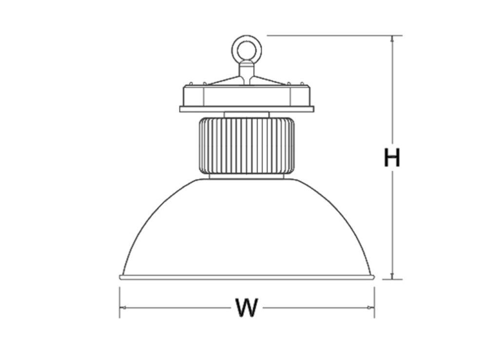 โคมไฮเบย์ LED 100W (เดย์ไลท์) Lunar