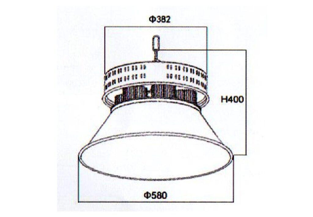 โคมไฮเบย์ LED 300W (คูลไวท์) NEOX